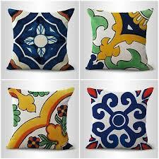 mexican spain talavera cushion covers