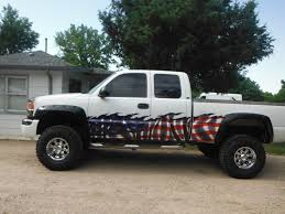 Car Truck Decals American Flag Vinyl Graphic Wrap 6ft And Up Truck Window Stickers Truck Decals Country Girl Truck