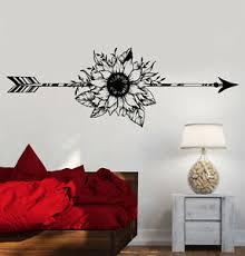 Vinyl Wall Decal Arrow Flower Art Decoration Bedroom Design Stickers 1179ig Ebay