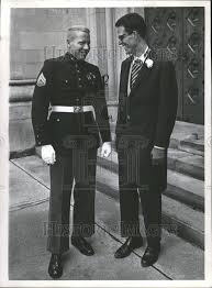 1966 Press Photo Adolph Coors IV and Joseph Coors Jr Chat | Historic Images