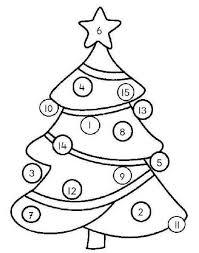 Kerstboom Cijferspel Kerst Kerstmis Kleurplaten Kerst Knutselen