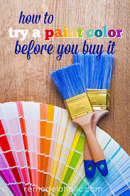 how to test a paint color before you it
