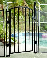 Ultimate Style Safety Upgraded Child Pool Fence Safety Gate 4 Tall Black Diypoolfence Com
