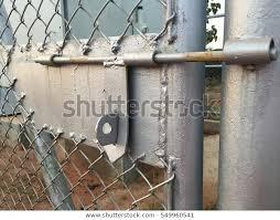 Gate Padlock On Gate Fence Stock Photo Edit Now 549960541
