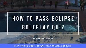 how to p the eclipse roleplay quiz