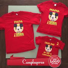 Playeras Mickey Cumpleanos Personalizadas Https Www Facebook Com