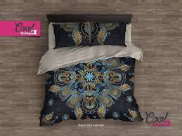 luxury duvet cover set bohemian mandala