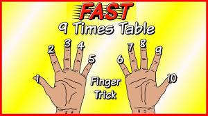 learn the 9 times table easily and fast