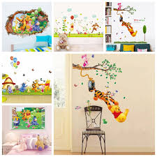 3d Baby Bear Cartoon Winnie Pooh Home Bedroom Decals Wall Stickers For Kids Rooms Wall Decals Nursery Party Supply Gifts Poster Buy At The Price Of 0 79 In Aliexpress Com Imall Com