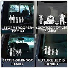 Star Wars Family Car Decals Family Decals Star Wars Star Wars Geek