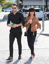 Michelle Keegan looks chic in a leather ...