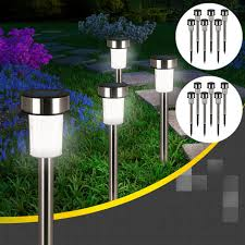 led solar garden lights set dusk sensor