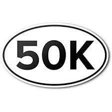 Amazon Com Oval Euro Car Magnet 50k Marathon Distance Runner Magnetic Bumper Sticker Automotive