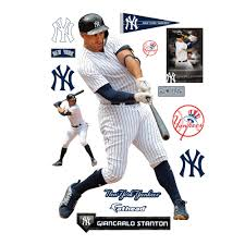 Giancarlo Stanton New York Yankees Fathead 14 Pack Life Size Removable Wall Decal Walmart Com Walmart Com
