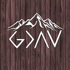 Amazon Com Celycasy God Is Greater Than The Highs And The Lows With Mountains Decal Car Decal Christian Decal Faith Decal Hope Sticker Baby
