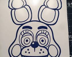 Sample Sale Five Nights At Freddy S Toy Bonnie Decal Vinyl Sticker Freddy Toys Unique Items Products Vinyl Decals