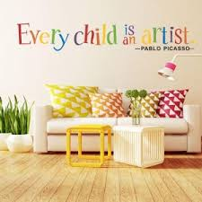 every child is an artis wall sticker simple wind inspirational