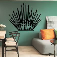 The Throne Game Of Thrones Wall Sticker Wall Vinyl Wall Decor Toilet Decor Wall Decals Wish