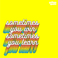 belajar dari kekalahan yellow quote