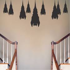 Sleeping Bats Halloween Decal Stickers Halloween Decals Decoration Door And Window Wall Stickers For Halloween Trendy Wall Designs