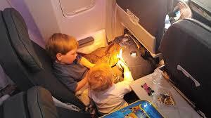 child sleep on a plane