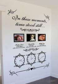 Memory Clocks Wedding Date Clocks Date Of Birth Clocks Family Wall Decals Family Wall Decor Memory Wall