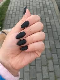 Black Matt Nails Paznokcie Zelowe Ladne Paznokcie Kosmetyki