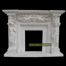 small angel fireplace mantel and marble