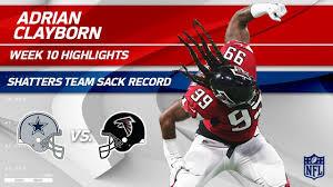 Adrian Clayborn Sets Team Record w/ 6 Sacks!   Cowboys vs. Falcons ...