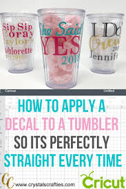 How To Apply A Decal To A Tumbler