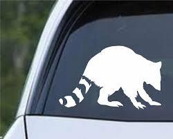 Raccoon Silhouette Die Cut Vinyl Decal Sticker Decals City