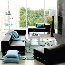 modern living room ideas black leather