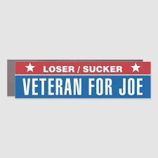 Loser Sucker Veteran For Joe Car Magnet Zazzle Com