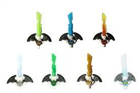 LEGO® Ninjago: Lot of 7 Djinn Swords Lloyd, Zane, Wu, Cole, Nya ...