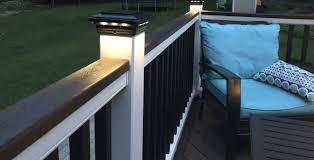 Solar Post Cap Light For Trex Transcend Post Sleeves By Ultra Bright Building A Deck Solar Post Caps Deck Design
