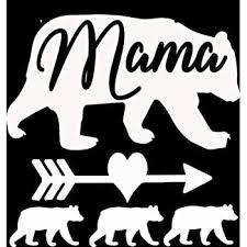Amazon Com Mama Bear 3 Cubs Vinyl Decal 5 X5 White Automotive