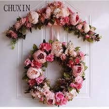 artificial silk rose lintel home