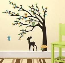 Deer With Tree Wall Sticker Vinyl Art Mural Decal Home Living Room Decor Ebay