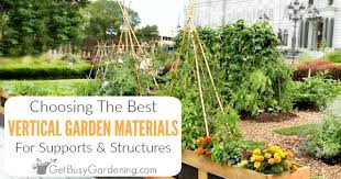 materials to use for vertical gardening