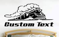 Train Tracks Car Wall Decals Stickers Graphics Man Cave Boys Room Deco