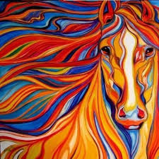 Pin by Ada Davidson on Colorful World❣❣   Horse painting, Horse paintings  acrylic, Colorful horse painting