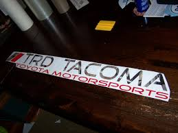 Trd Tacoma Windshield Decal Sticker Banner Toyota Motorsports