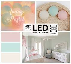 20 Led Usb Battery Cotton Ball Lights Kids House Bed Lights Etsy