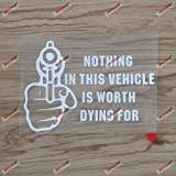 Amazon Com Nothing In Here Is Worth Dying For Die Cut Decal Bumper Sticker For Windows Cars Trucks Laptops Etc Automotive