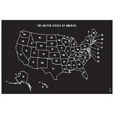 Wallies U S Map Whiteboard Chalkboard Wall Decal Wayfair