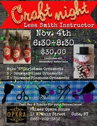 NOVEMBER 4: CRAFTS w Lesa Smith... - Greater Olean Area Chamber of ...