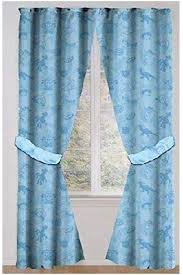 Amazon Com Toy Story Drapes Kids Window Panel Curtains With Tie Backs Blue Furniture Decor