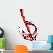 Pouring Red Wine Wall Decal Wallmonkeys Com