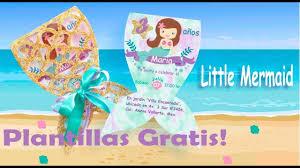 Diy Invitacio La Sirenita The Little Mermaid Youtube