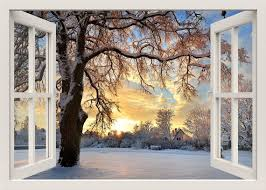 Winter Wall Decal 3d Window Wall Decal Window View Wall Etsy
